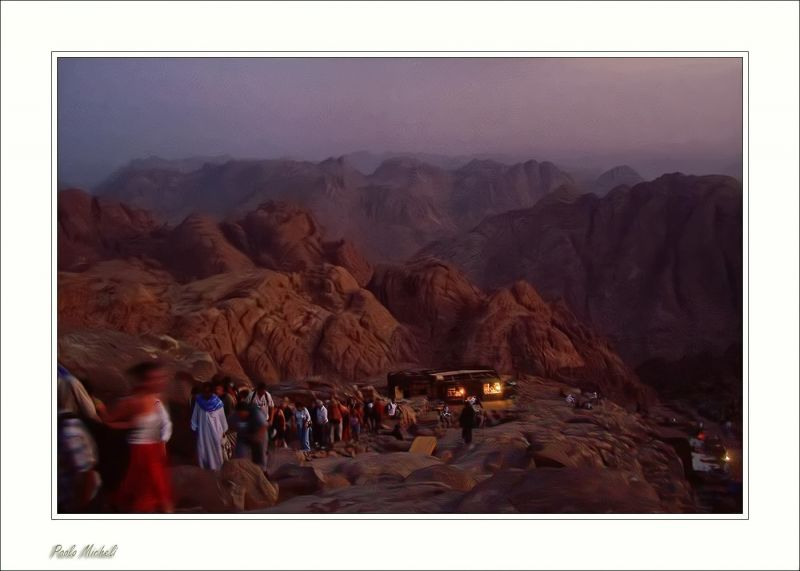 The climb of the Sinai Mt.