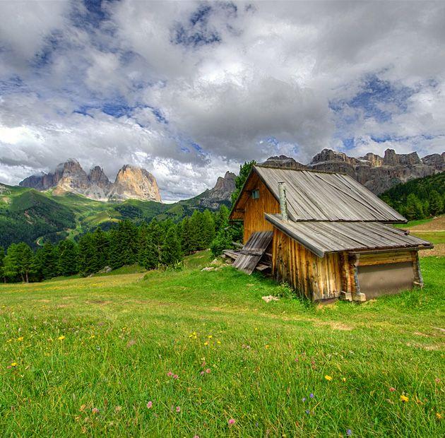 Sassolungo view