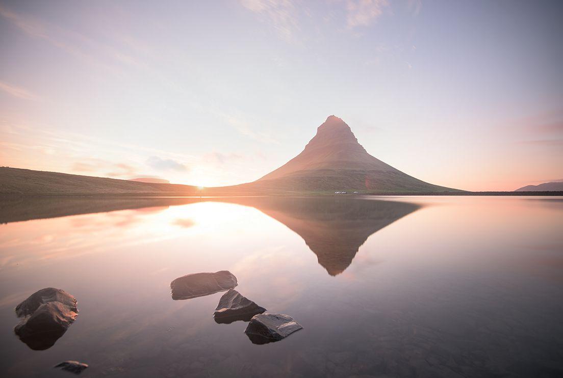 Kirkjufell reflections